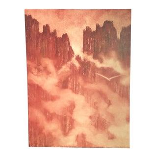 Original Signed Painting - Peaks Landscape