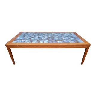 Blue Tiled Coffee Table