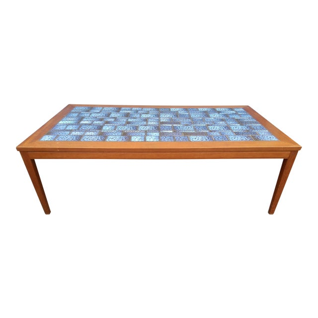 Image of Blue Tiled Coffee Table