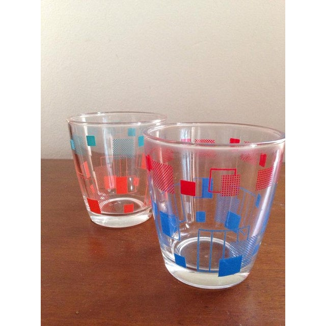 Retro Grid Cocktail Glasses - A Pair - Image 2 of 4