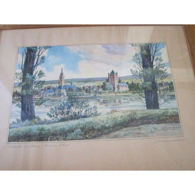 Zimmermann Vintage German Landscape Print - Image 3 of 11