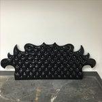 Image of Black & Rhime Stone Tufted Headboard