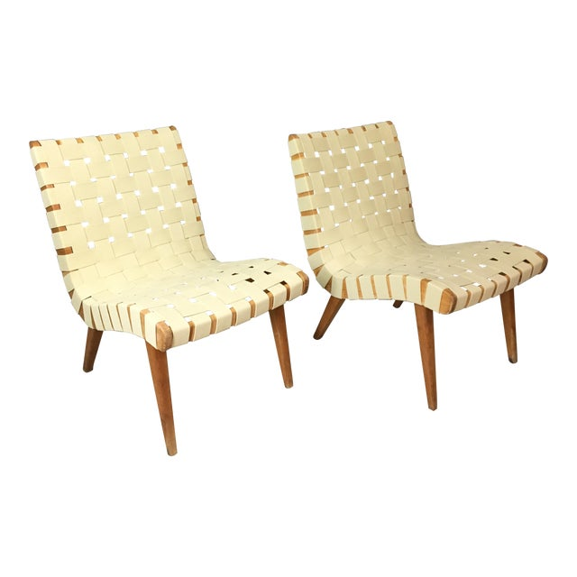 Pair of Mid Century Jen Risom Lounge Chairs - Image 1 of 6