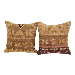 Neon Turkish Kilim Cushions - A Pair