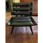 Image of Arteriors Wood & Leather Slatted Chair