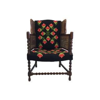 Antique Barley Twist & Cane Armchair