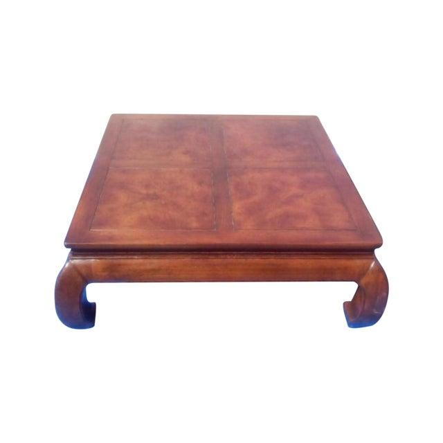 Vintage Henredon Asian Burlwood Coffee Table - Image 1 of 8