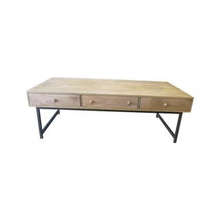 Mid Century Industrial Free Space Coffee Table