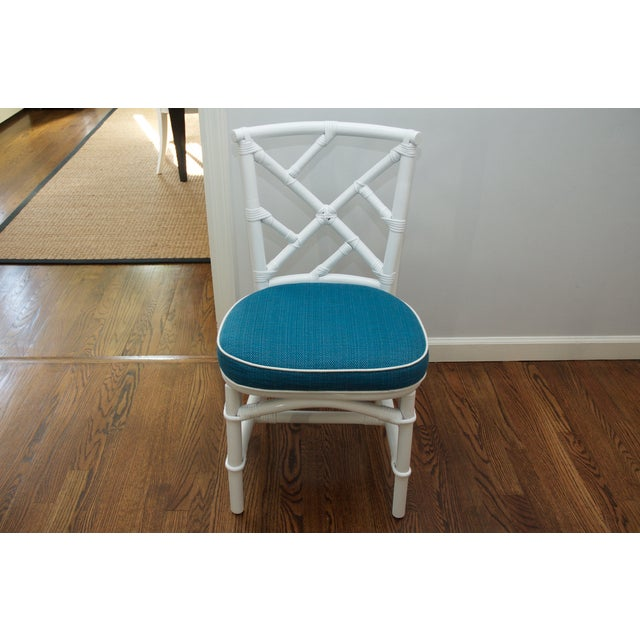 Refinished Ficks Reed Rattan Chairs - Set of 4 - Image 4 of 8