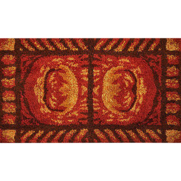"French Accents Turkish Hooked Area Rug 67"" x 45"" - Image 1 of 2"