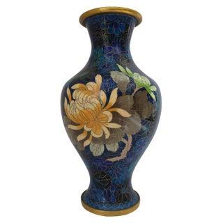 Blue Floral Cloisonné Vase