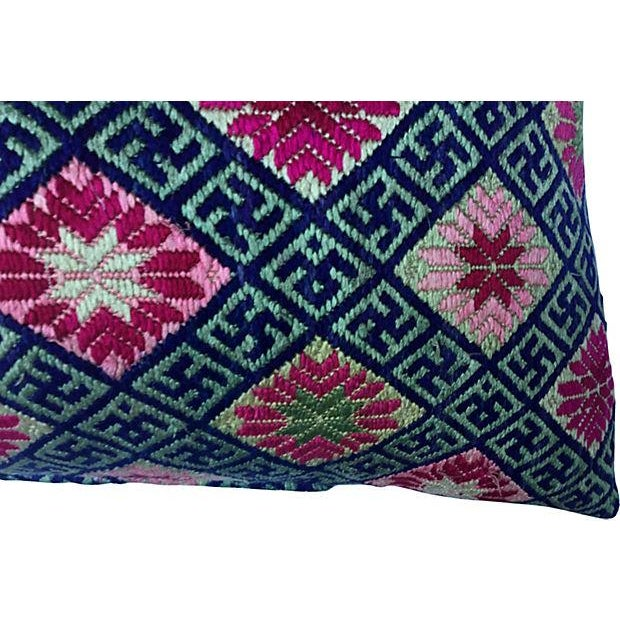 Double Happiness Silk Wedding Quilt Pillow - Image 6 of 7
