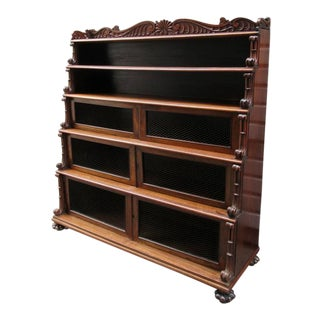 Early 19th Century West Indies Bajan Rosewood Tiered Bookcase with Shell Motif