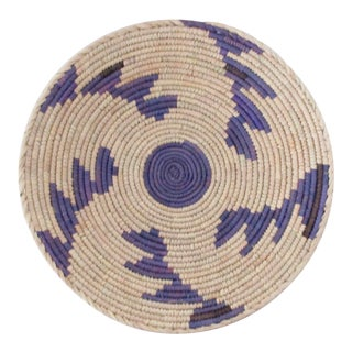 Purple Step Pattern With Center Detail Low Basket