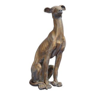Life-Size Greyhound Dog Statue
