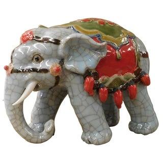 Chinese Ceramic Crackle Elephant Figure