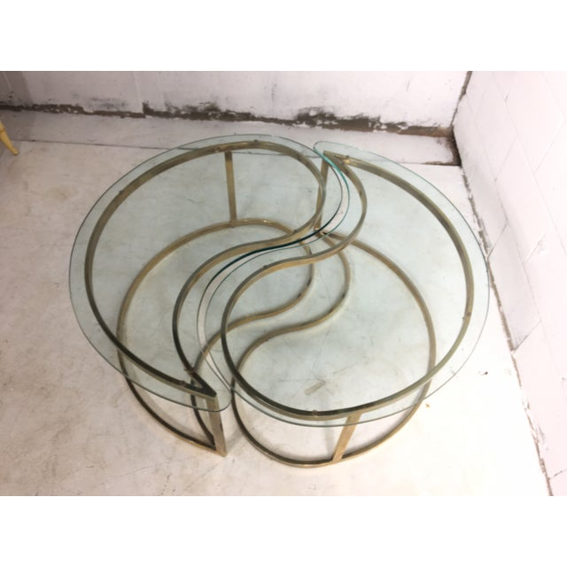brass yin and yang coffee table chairish