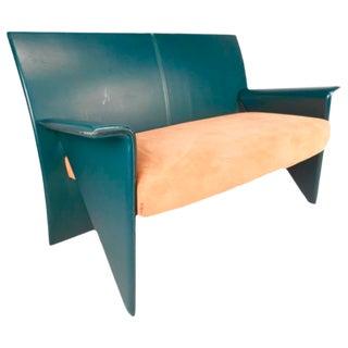Mid-Century Modern Italian Leather Settee