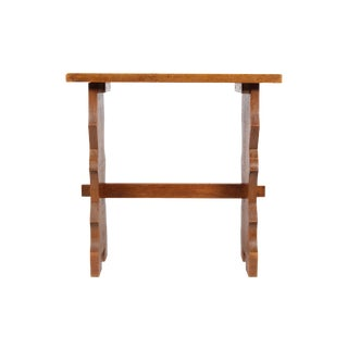 Antique Solid Oak End Table