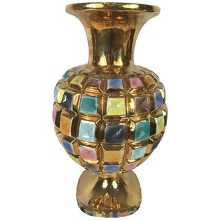 Italian Gilt & Jeweled Vase