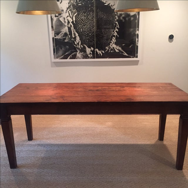 Reclaimed Wood Rectangular Rustic Dining Table - Image 3 of 5