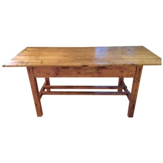 Antique 19th Century Irish Pine Farm Dining Table