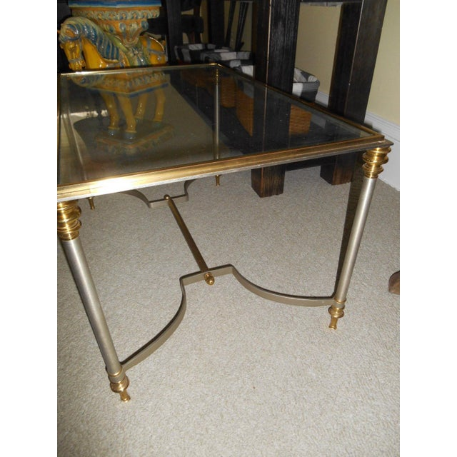 Vintage Maison Jansen Glass Side Table - Image 3 of 5