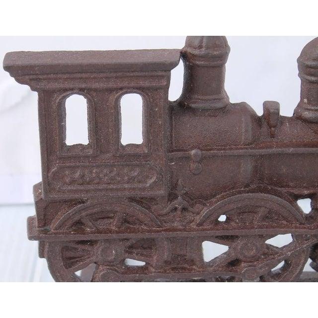 Image of 19th Century Original Old Surface Iron Train Door Stop