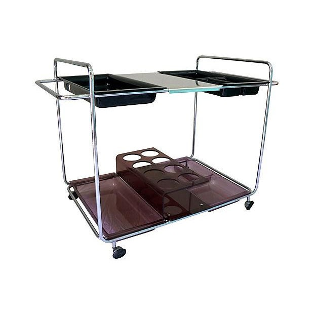 Image of Mid Century Chrome Bar Cart