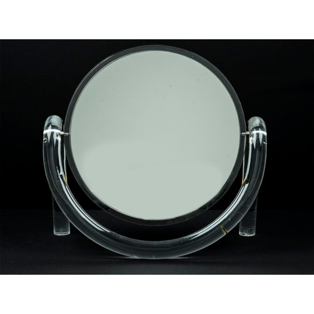 Dorothy Thorpe Lucite Tabletop Make-Up Mirror - Image 3 of 5