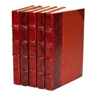 Exotic Collection Python Crimson Books - Set of 5