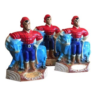 Mr. Boston Brandy Paul Bunyan & Babe Ox Decanters - Set of 3