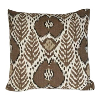 Kim Salmela Brown Ikat Pillow