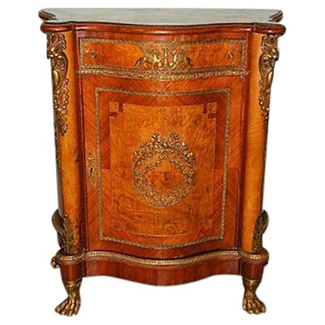 Antique Inlaid French Empire Revival Cabinet - Image 1 of 8