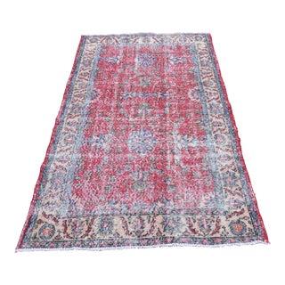 Turkish Anatolian Floral Floor Rug -