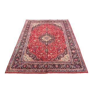 Hand Knotted Persian Mashad Rug - 9′11″ × 13′1″