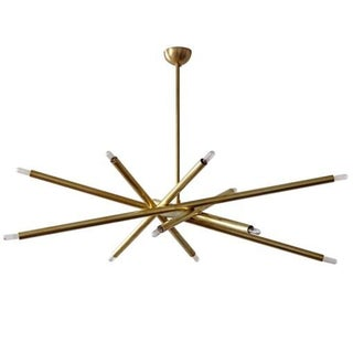 Spiral Six-Arm Brass Chandelier