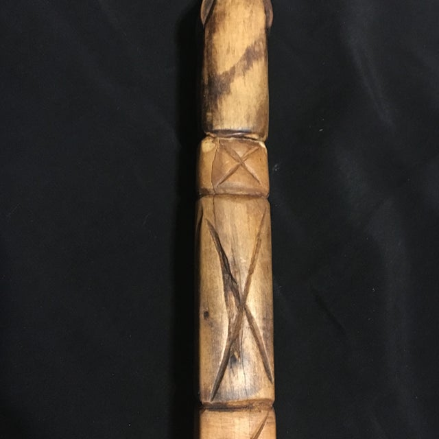 Hand Carved Vintage Walking Stick with Parrot - Image 7 of 9