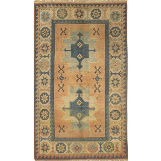 "Pasargad N Y Kazak Design Hand-Knotted Area Rug -- 4'2"" X 6'6"""