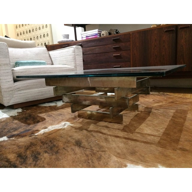 Paul Mayen Brass Stacked Coffee Table - Image 3 of 9
