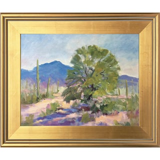 Southwest Landscape With Cactus and Mesquite Tree by Scola