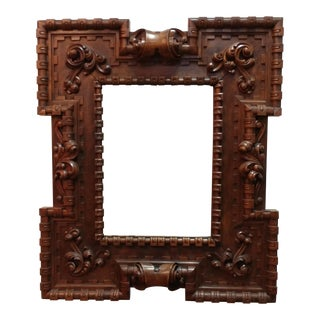 18th Century Carved Wooden Framed Mirror