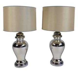Mercury Glass Table Lamps - Pair