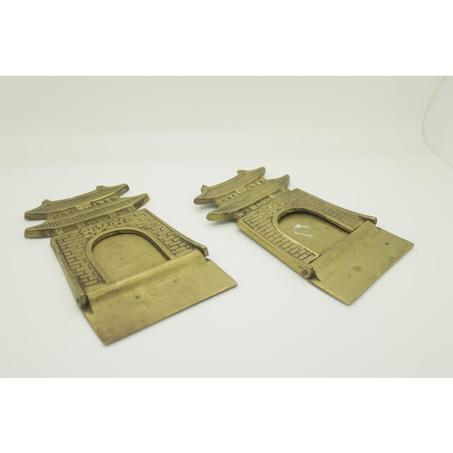 Image of Brass Pagoda Bookends