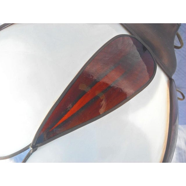 Mid-Century Modern Lotus Glass Pendant Light - Image 4 of 8