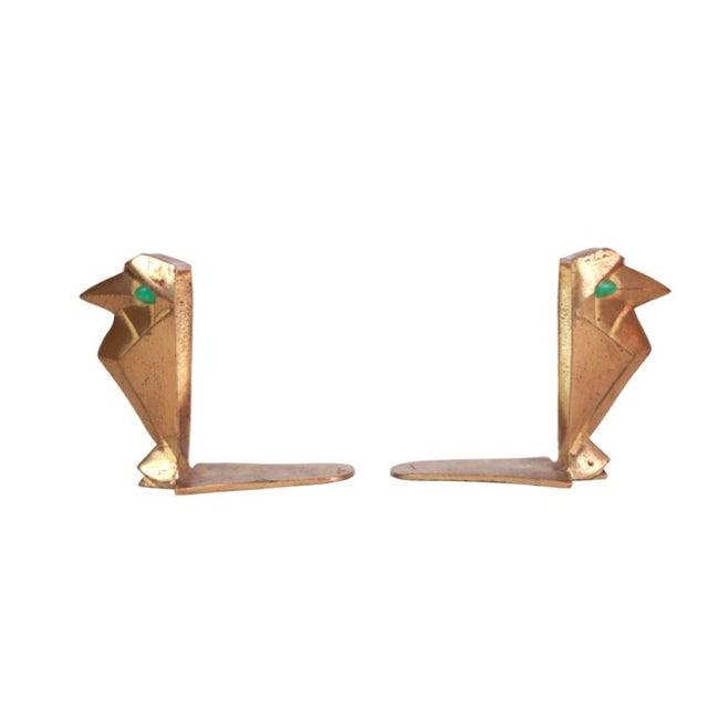 Image of Art Deco Cubist Falcon Bookends