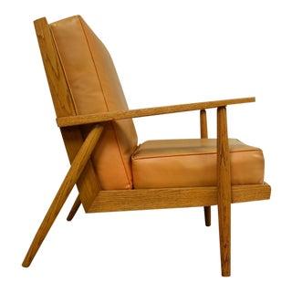 Mid-Century Oak Lounge Chair