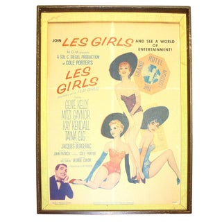 """Original Movie Poster from George Cukor Film: """"Les Girls"""" 1957. By Famous Artist, Alberto VARGAS"""