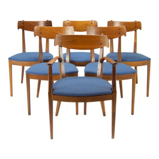 Kipp Stewart for Drexel Walnut 'Declaration' Dining Chairs - Set of 6
