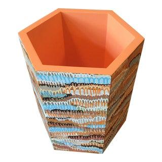 Faux Painted Wastebasket